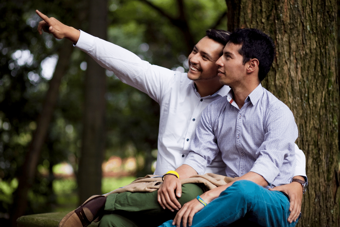 Gay Couple Outdoors Together