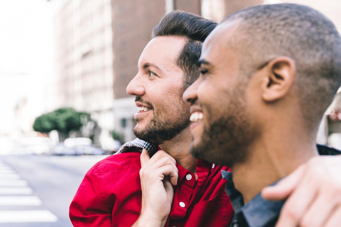 Gay Couple Outside